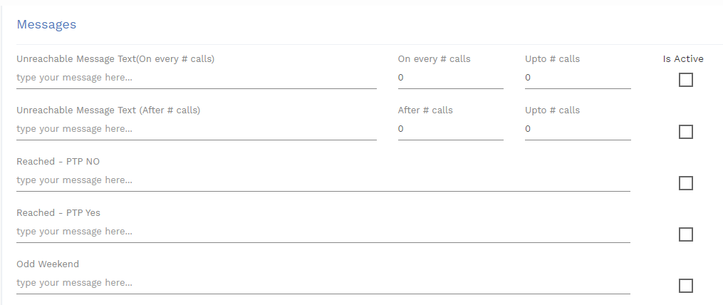 sms configuration